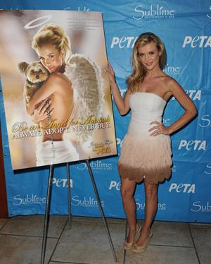 Joanna Krupa PETA Be an Angel for Animals Pro Adoption ad unveiling in Florida on April 15, 2012