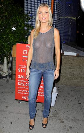 Joanna Krupa -  Braless See -Through Candids in Beverly Hills