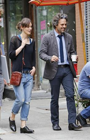Keira Knightley -  Can A Song Save Your Life  set candids in New York City, July 9, 2012