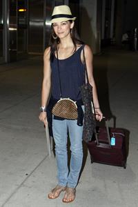 Kristin Kreuk - Pearson International Airport arrival candids in Toronto (July 16, 2012)