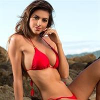 Carol Chafauzer in a bikini