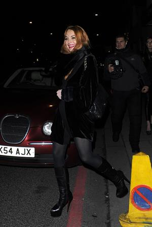 Lindsay Lohan Outside China Tang restaurant in London - Jan 4, 2013