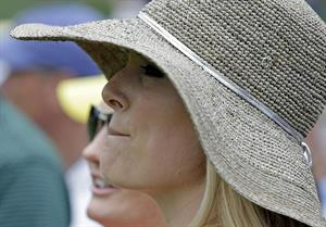 Lindsey Vonn First round of the 2013 Masters Tournament at Augusta National Golf Club 11.04.13