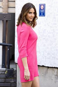 Lisa Snowdon Departing ITV Studios in London on April 30, 2013