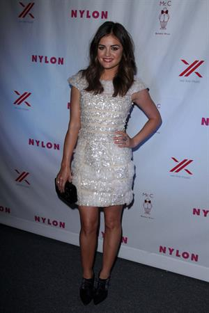Lucy Hale NYLON And Sony Headphones September TV Issue Party, September 16, 2012