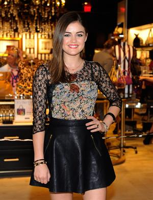 Lucy Hale - Las Vegas Fashion Show Mall August 29, 2012