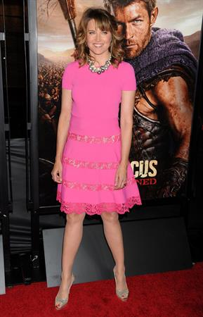 Lucy Lawless U.S.Premiere Screening of Spartacus War of the Damned' at Regal Cinemas in LA on January 22, 2013