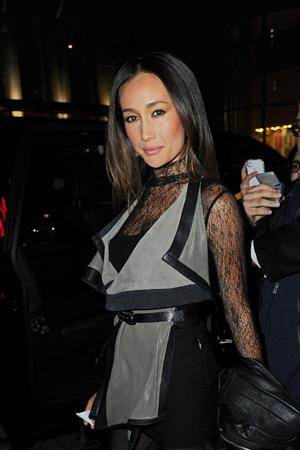 Maggie Q leaving Rockefeller Center in NYC 1/17/13