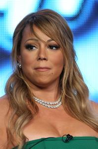 Mariah Carey American Idol panel during 2013 Winter TCA Tour in Pasadena 08.01.13