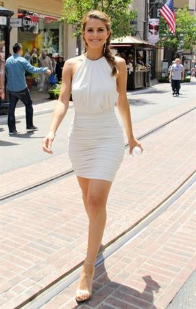 Maria Menounos Filming her TV Show at the Grove in LA on May 23, 2013