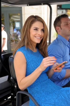 Maria Menounos On the set of Extra in Los Angeles on June 6, 2013