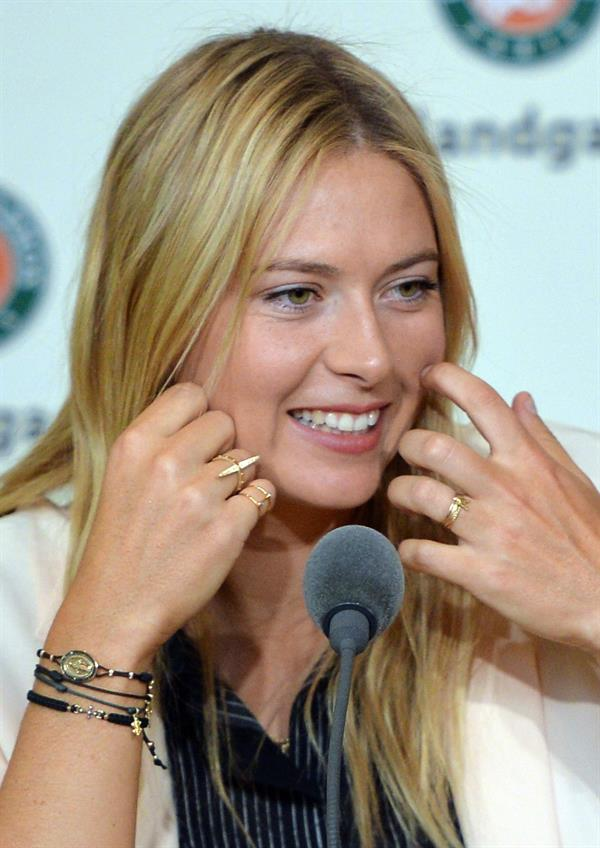 Maria Sharapova 2013 French Open draw ceremony in Paris May 24, 2013