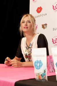 Maria Sharapova poses during Maria Sharapova launches her Sugarpova Candy Collection December 13, 2012