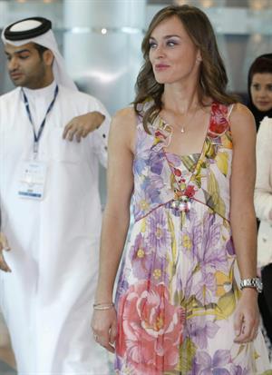 Martina Hingis pics press conference in Qatar 11/14/12