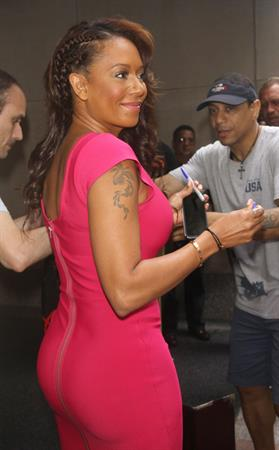 Melanie Brown At The Today Show in NYC on on July 22, 2007