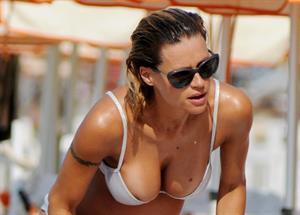 Michelle Hunziker bikini candids in Varigotti, Italia 6/7/13