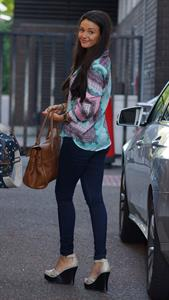 Michelle Keegan - Arriving at ITV Studios - September 6, 2012