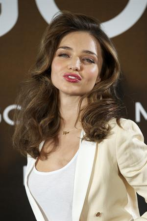 Miranda Kerr introduced as the new Face of Mango in Madrid, Spain 12/11/12