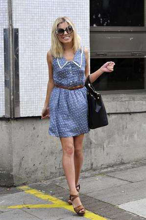 Mollie King arriving at a studio London on June 23, 2011