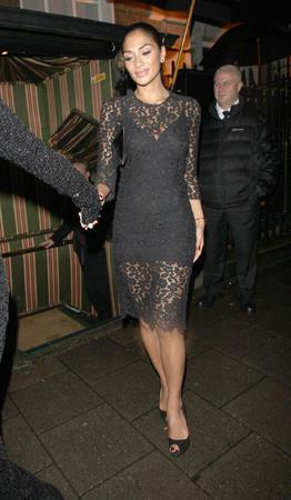 Nicole Scherzinger leaving Annabel's private members club October 2, 2012