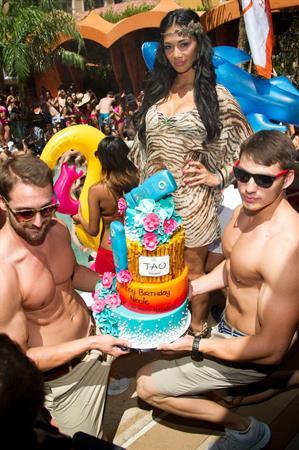 Nicole Scherzinger - 33rd Birthday Celebration at TAO Beach in Las Vegas (June 23, 2012)