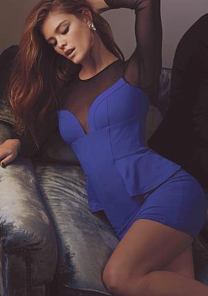 Nina Agdal BEBE: Holiday ads (November 2013)