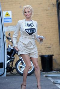 Pamela Anderson at the Cambridge Union, Britain March 5, 2013