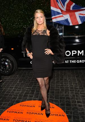 Paris Hilton Topshop Topman LA Opening Party at Cecconi's West Hollywood in LA February 13, 2013