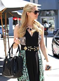 Paris Hilton stops by Anastasia Spa in Beverly Hills, California April 10, 2013