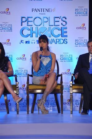 Priyanka Chopra People's Choice Awards Launch at ITC Grand Maratha in Mumbai on October 17, 2012