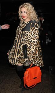 Rita Ora arriving to her concert at the Highline Ballroom in New York City on Dec 22, 2012