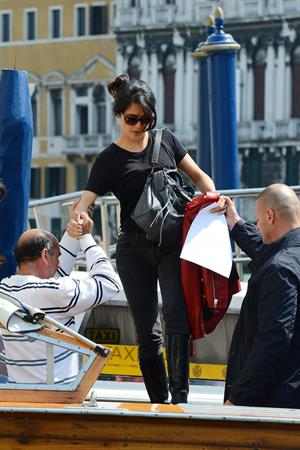Salma Hayek Visiting the Biennale in Venice May 30, 2013