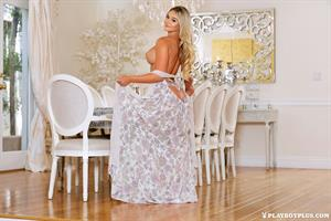 Tahlia Paris nude at a formal dining table