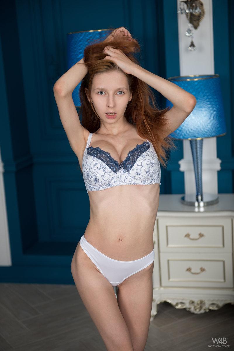 Helga Grey nude in the blue room