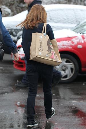 Samia Ghadie Leaving hotel in Borehamwood, January 14, 2013