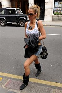 Sarah Harding walking in London on July 12, 2012