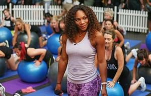 Serena Williams Nike Training Club App Workout - Melbourne January 8, 2013