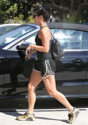 Vanessa Hudgens at a Piloing class in Studio City 9/29/12