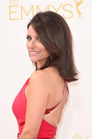 Julia Louis-Dreyfus at the 66th annual Primetime Emmy Awards, August 25, 2014
