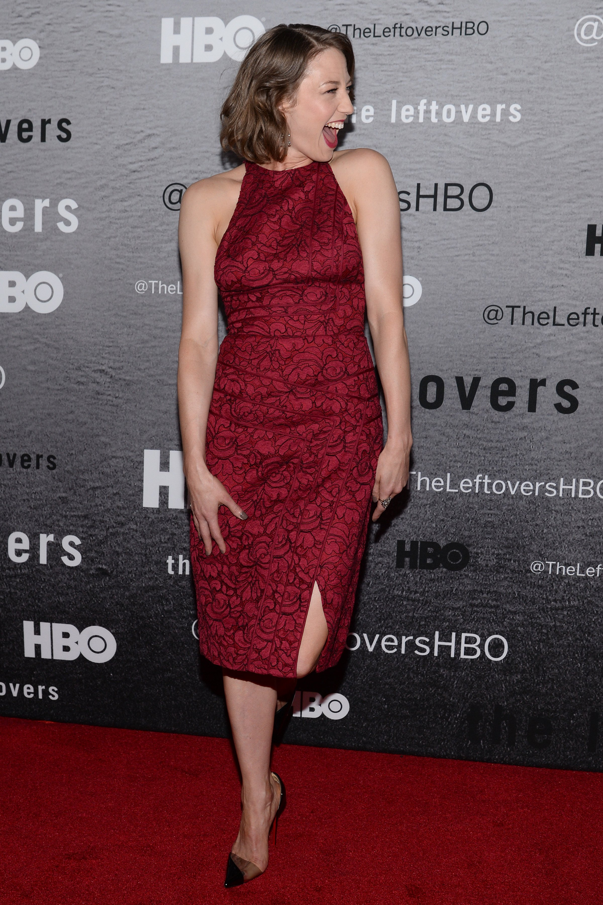 Carrie Coon attends 'The Leftovers' premiere at NYU Skirball Center on ...