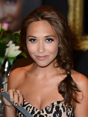 Myleene Klass Unveiling her new nail wrap bar in Oxford Street - November 1, 2012