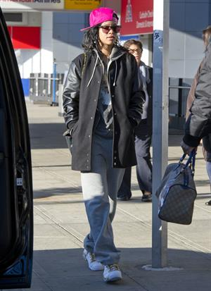 Rihanna arriving at JFK in NYC 11/6/12