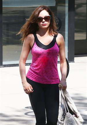 Rose McGowan - leaves a gym in Los Angeles October 4, 2012