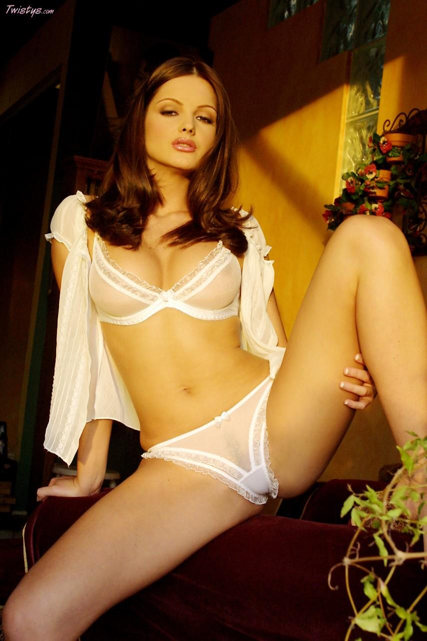 Sandra Shine in lingerie - breasts