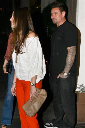 Minka Kelly leaving Madeo restaurant Los Angeles on March 24, 2012