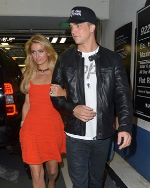 Paris Hilton enjoys a night out with her boyfriend in Beverly Hills on June 6, 2013