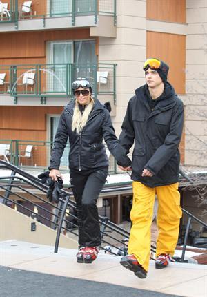 Paris Hilton enjoying a day in the mountains of Aspen December 18, 2012