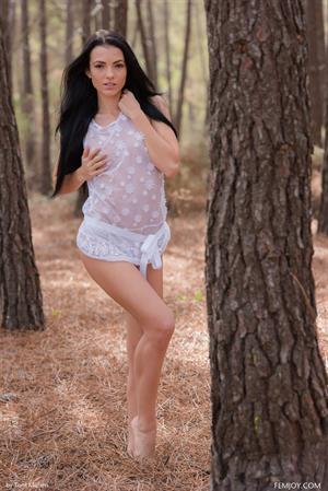 Sapphira A out on a hike