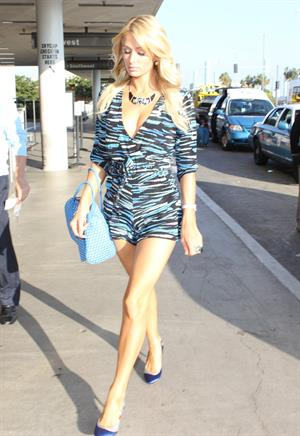 Paris Hilton arrives at LAX Airport 11/2/12