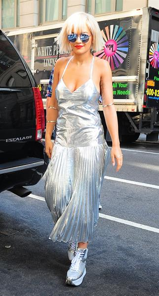 Rita Ora visiting Fox and Friends August 19, 2014